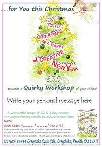 Our Quirky Open Vouchers are inspired presents - click for details