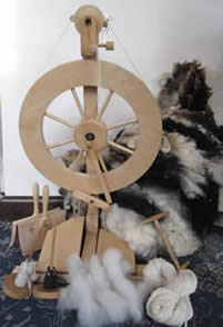 Spinning Workshop using Spinning Wheels and Drop Spindles at Greystoke Cycle Cafe with Marion Woolcott