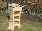 Build Your own Warre Hive at Greystoke ...this is an example of the top bar hive you will make - Neil built this for our garden as a prototype. He uses beautiful ENGLISH CEDAR , considered one of the best woods for bees. The hive built during the workshop will contain 4 boxes, the picture show a 3 box hive.