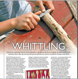 A fab article from this months Home Famer magazine featuring David Alty where he's most comfortable- in the wood!