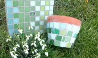 Mosaics in the Garden and Home with Keeley Metcalfe at Greystoke Cycle Cafe