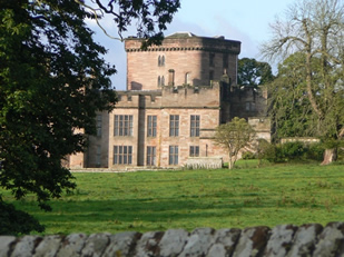 View from the Cycle Cafe Tea Lawn - Greystoke Castle
