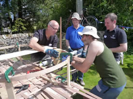 Coracle Building in a Day with Mark Aplin at Greystoke Cycle Cafe