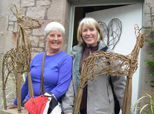 Willow Deer Sculptures with Phil Bradley at Greystoke Cycle Cafe