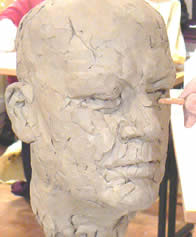 Life Head Sculpure in Clay with Fliss Watts  ( and a model will be present all day)