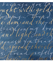 Calligraphy Workshop with Gaynor Goffe at a Quirky Workshop at Greystoke Cycle Cafe