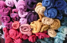 Eco dyeing fine yarns etc with Helen Melvin or Fiery Felts at Greystoke Cycle Cafe