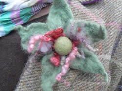 Nuno Felt and Corsages with Linda Chapman at Greystoke Cycle Cafe