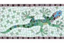 Mosaics in a Weekend - with Martin Cheek at a Quirky workshop at Greystoke Cycle Cafe