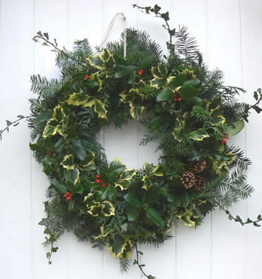 Large Christmas wreath making workshop at Greystoke Cycle Cafe