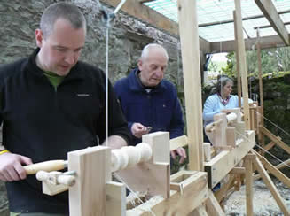 Pole Lathe turning Workshop at Greystoke Cycle Cafe with Chris Helliwell  -Click on here to see all photos of the last day here