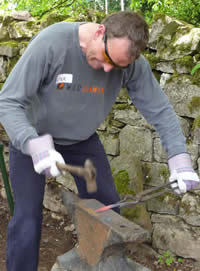 Beginners Artistic Blacksmithing with Adiran Wood  - June 2011 at Greystoke Cycle Cafe