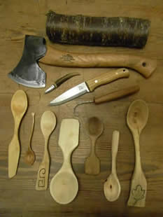Bush Craft Days with David Alty at Greystoke Cycle Cafe - Click here for pictures of last years Spoon Carving at Greystoke