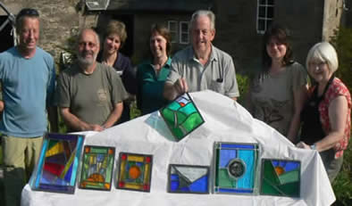 A Stained Glass Quirky Workshop with Jackie Hunt at Greystoke Cycle Cafe
