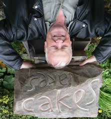 After 2012's intermediate class this carver even managed a celebratory headstand on his piece. ..Stone Carving Workshop with Pip Hall at Greystoke Cycle Cafe
